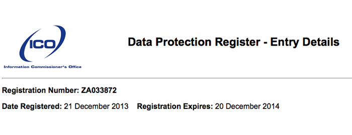The Data Protection Act requires all data controllers to register with the Information Commissioner's Office (ICO). They must apply for a data protection licence and renew their registration annually.